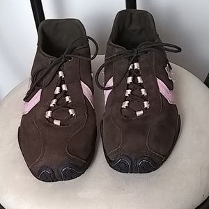Converse Lace-ups, Women's Brown/pink stripes